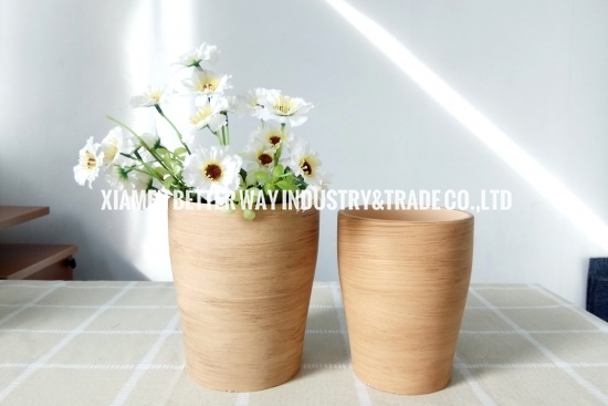 Indoor Brown Cup Like Ceramic Flower Pots