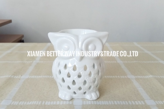 Home Decorative Owl Animals Ceramic Aromatherapy Burners