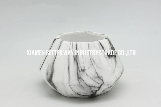 Beautiful Marble Herb Planter Flower Pot