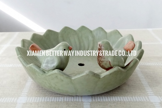 Ceramic Birds Floral Pots for Fleshy Succulent Plant Planter
