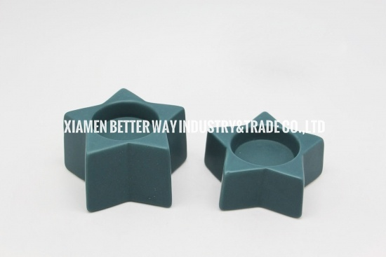New Design Short Star Shape Ceramic Tealight Candle Holder