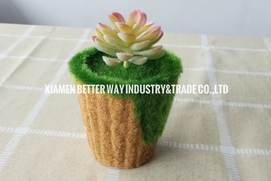 Artificial Plants with Pot Made by Paper Pulp