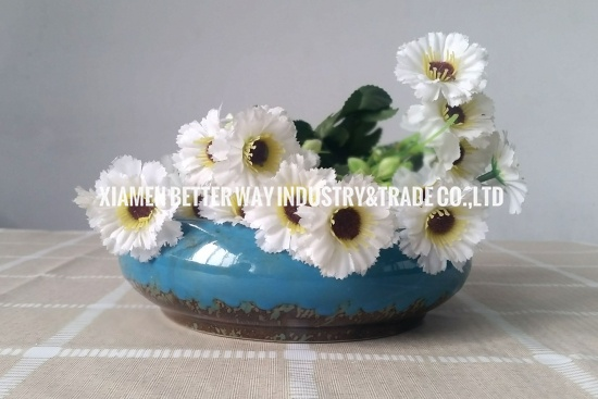 Ceramic Flower Container Succulent Pot Tabletop Contemporary Home Decor